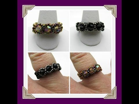 Handmade Jewelry: Beaded Stackable Rings - YouTube