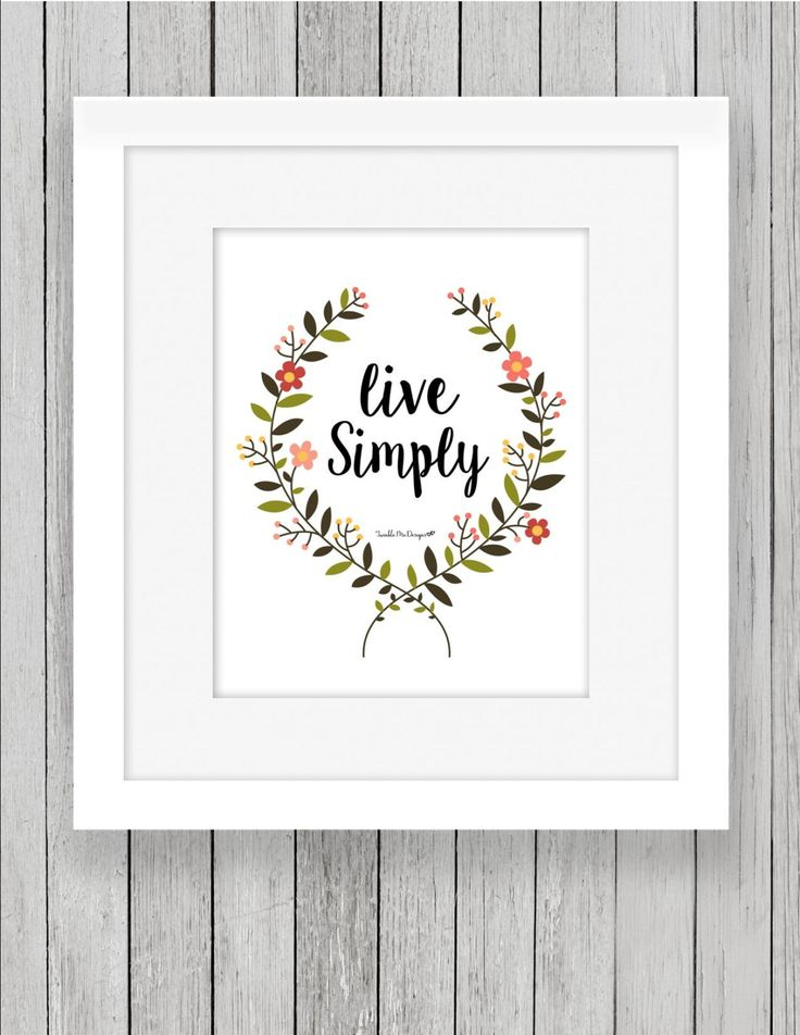 Live simply print instant download 8x10 live simply for Live simply wall art
