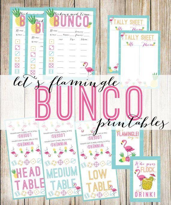 image regarding Printable Bunco Cards titled Will allow Flamingle! Printable Flamingo Pineapple Bunco, Bunco