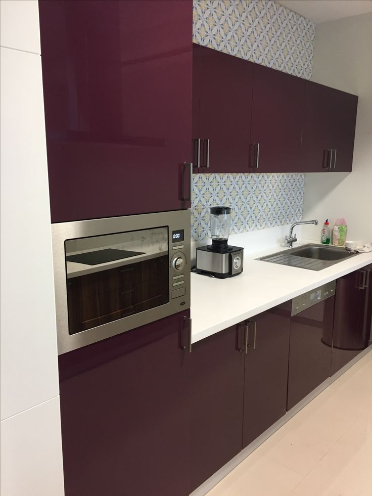 Modular kitchen with Gloss Foil finish and