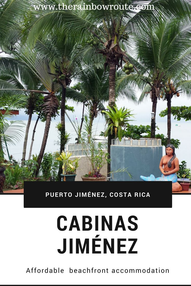 Beautiful ocean-front property with outstanding service and free kayaks at Cabinas Jimenez in Puerto Jimenez, Costa Rica!