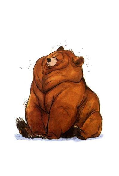 Сердца, смешные медведи картинки рисованные