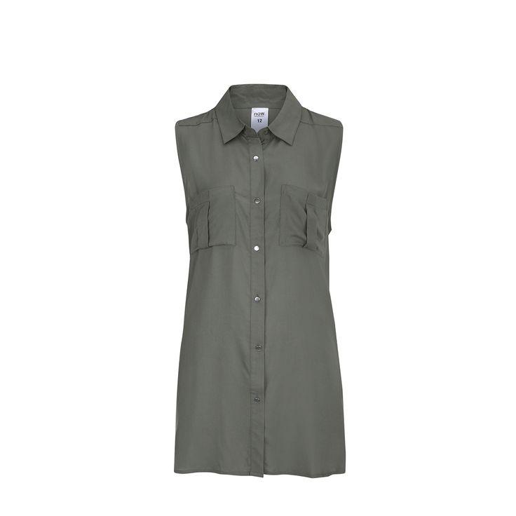 Sleeveless Longline Shirt   Kmart