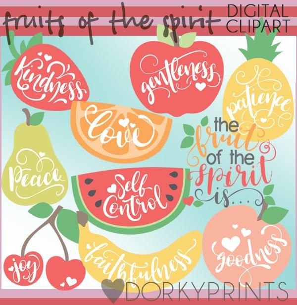 Fruits Of The Spirit Food Clipart Fruit Of The Spirit Clip Art Simple Collage