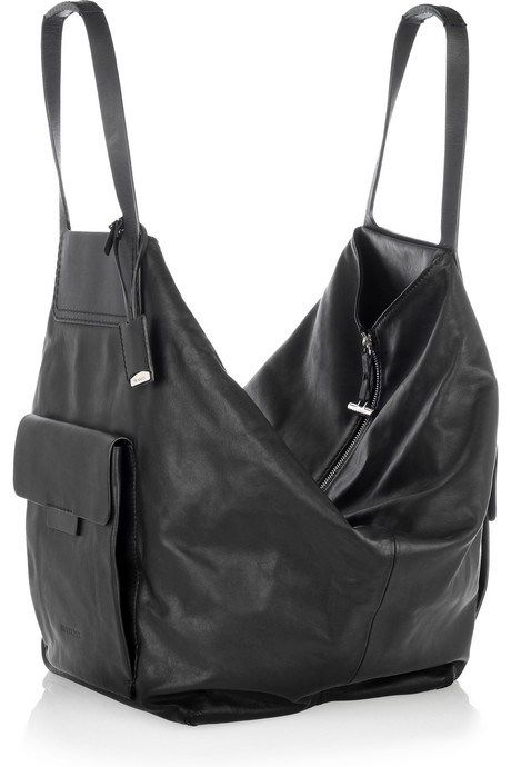 Oversized Leather Shoulder Bag from Jil Sander. I would like this do much more if it was brown.