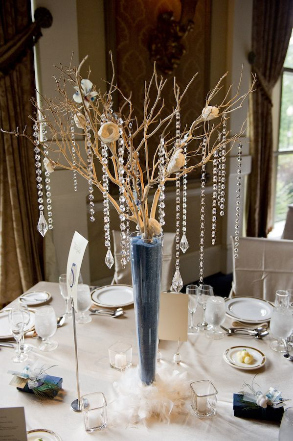 Teal centerpiece wedding ideas pinterest