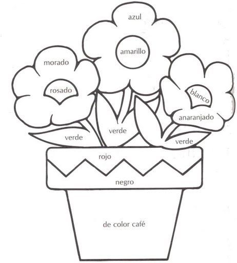 ... LOS COLORES on Pinterest | Coloring, Color by numbers and Preschool