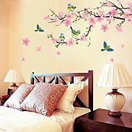 romantische kersenbloesem vormige slaapkamer / woonkamer / tv achtergrond muur sticker – EUR € 9.13