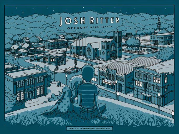 Josh Ritter Poster by Charles Crisler