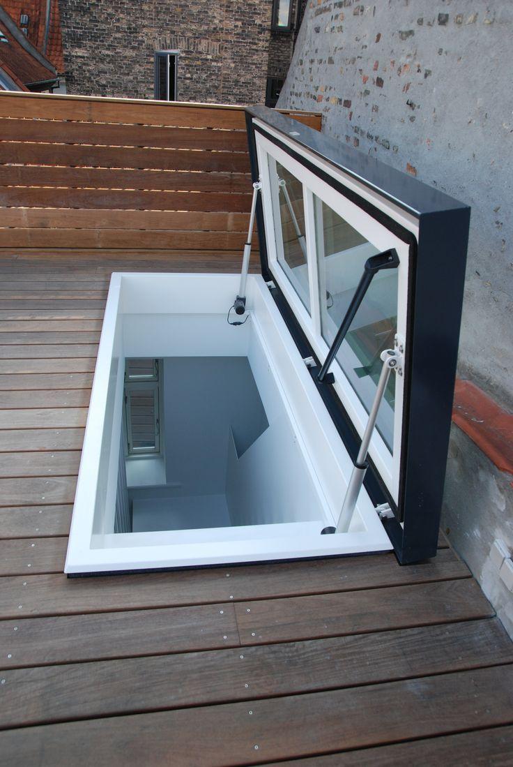 Staka Roof Access Hatch Roof Hatch In Copenhagen Copenhagen Rooftop Terrace Design Glass Roof Roof Balcony