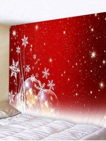 58fbf703640 Christmas Snowflake Ball Printed Tapestry Art Decoration