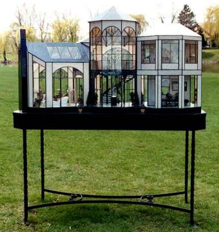 Contemporary House in Glass by Lady Jane