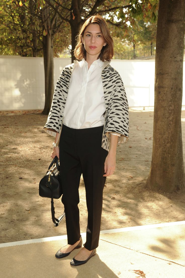 Sofia Coppola wore a Valentino look especially designed for her by Creative Directors to the Valentino Spring/Summer 2015 show