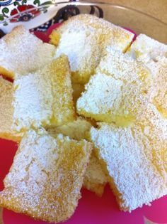 Kathe With an E: Two Ingredient Lemon Cake Bars. All you need is a box of Angel Food cake mix and a can of lemon pie filling.