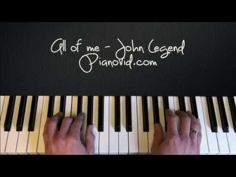 how to play john legend all of me on keyboard