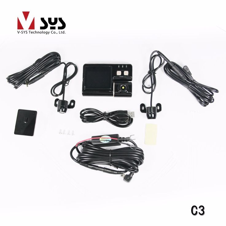 VSYS C3 Waterproof Dual Camera Motorcycle DVR //Price: $2160.14 & FREE Shipping //     #gps
