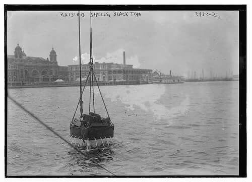 July 30th  Today in 1916 explosions at nearby Black Tom Wharf in Jersey City believed set by German saboteurs severely damaged the Ellis Island buildings. Lady Liberty saw damage to her torch, which has been closed to the public ever since. The explosions destroyed an estimated 2,000 tons of munitions parked in freight cars and pierside barges, awaiting transfer to ships destined for Britain and ultimately, the World War I battlefields of France. #WW1 #History