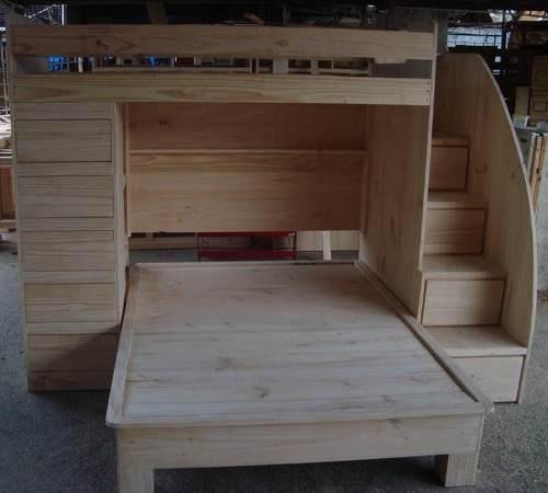 M s de 1000 ideas sobre cabeceras de paletas de madera en - Literas para ninos espacios pequenos ...