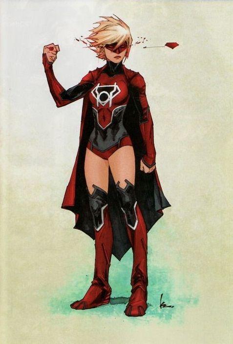Red Lantern Supergirl - Kenneth Rockafort