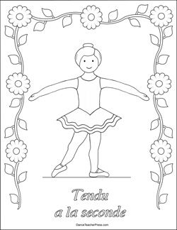 ballet positions coloring pages free coloring page