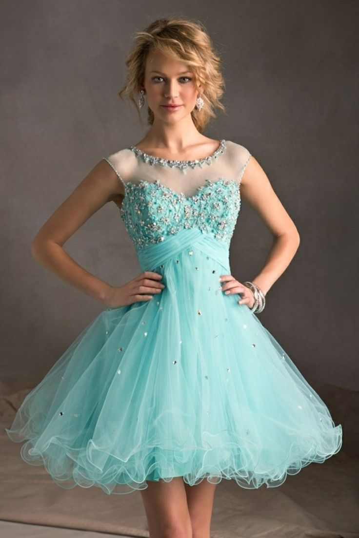 Sparkly Baby Blue Party Dresses for Juniors | Dress images
