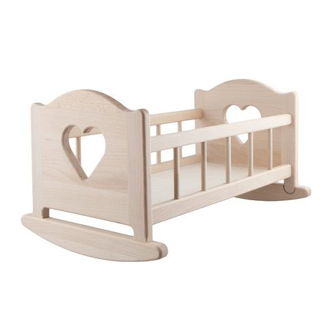Wooden Doll Cradle - as seen on www.roso.co.nz
