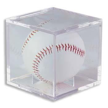 (1) One - Clear Ultra-PRO Baseball Cube Holder - Ultra PRO's Baseball Holder is the top of the line Protector & the best way to display & protect Baseballs. No PVC & Acid Free so it will not damage Balls or Autographs - (Baseball is not included) by Ultra Pro. $6.56. Clear Ultra-PRO Baseball Cube Holder - Ultra PRO's Baseball Holder is the top of the line Protector & the best way to display & protect Baseballs. No PVC & Acid Free so it will not damage Balls or Aut...