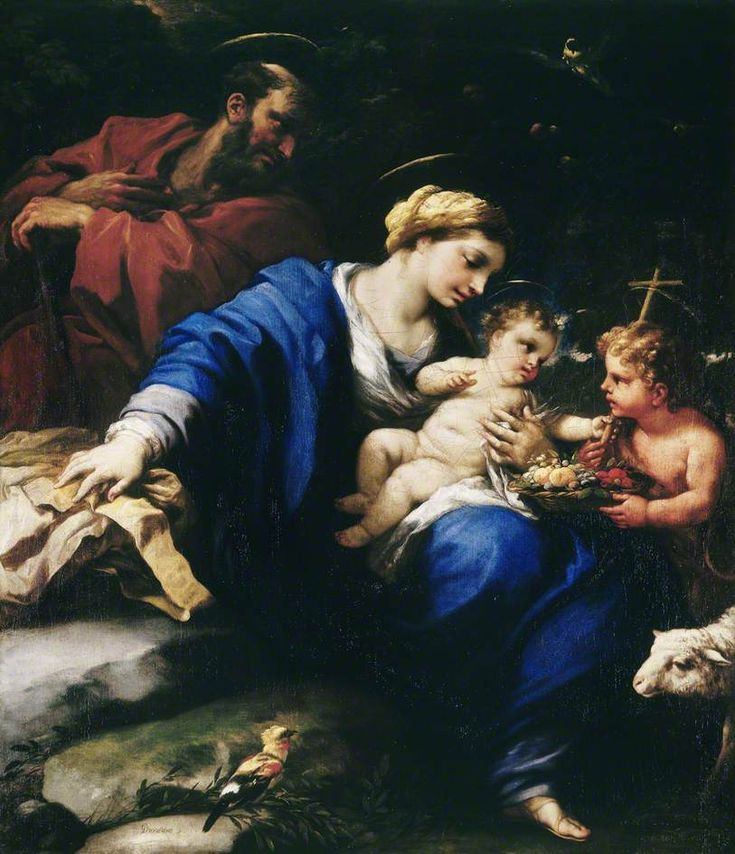 The Athenaeum - The Holy Family with the Infant Saint John the Baptist (Luca Giordano - )
