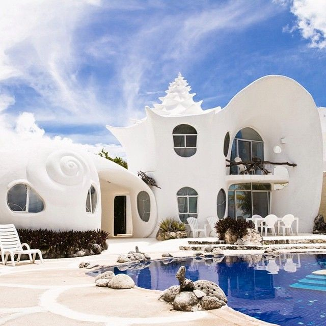 The Seashell House in Mexico.... Incredible!