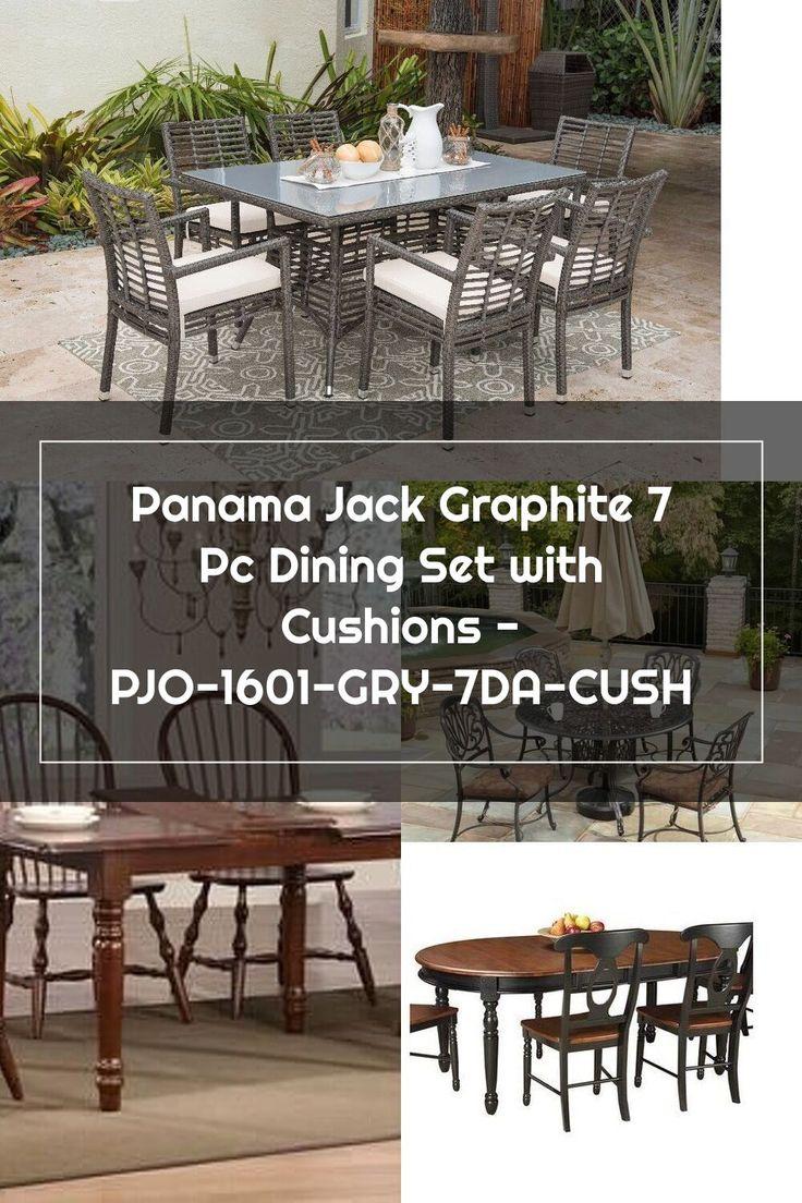 Panama Jack Graphite 7 Pc Dining Set With Cushions Pjo 1601 Gry