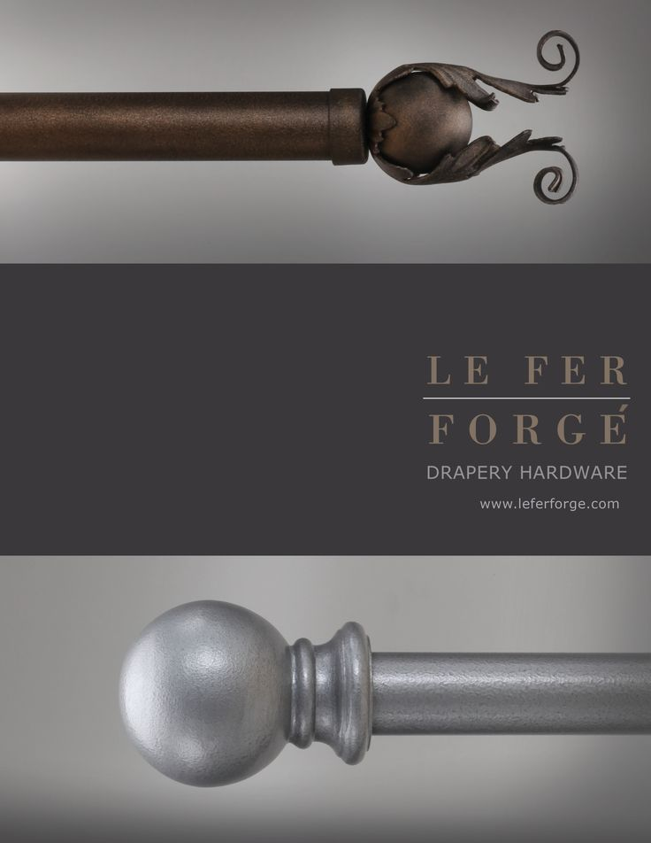 Le Fer Forge Drapery Hardware Manufacturer in Miami. To the trade only. (Catalog Cover Page)