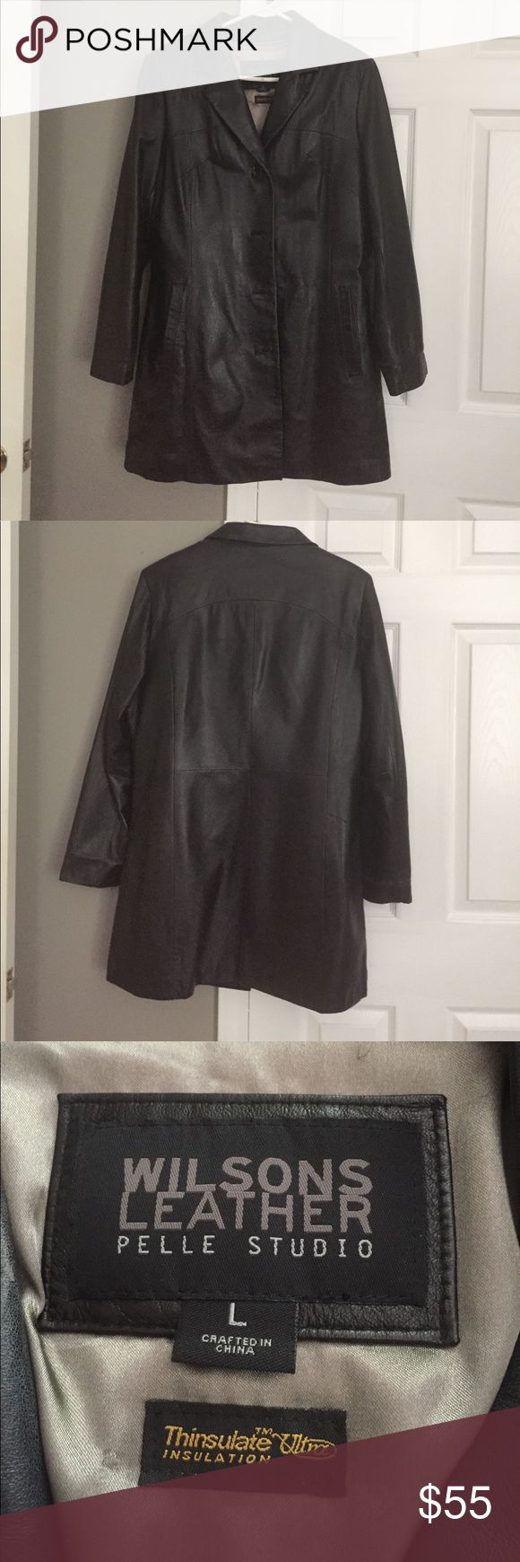 Leather coat Beautiful real leather coat by Wilsons