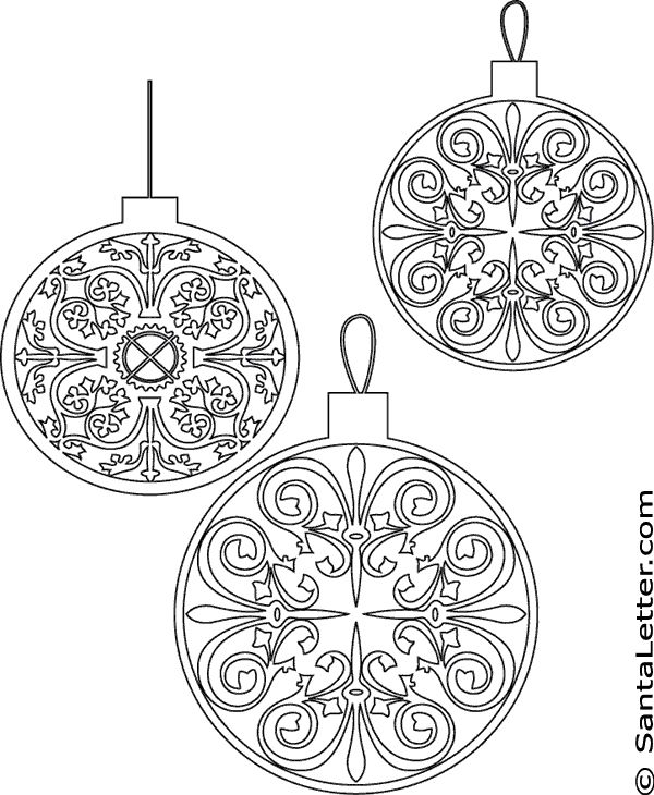 christmas coloring pages printable christmas ornaments coloring pages at santalettercom