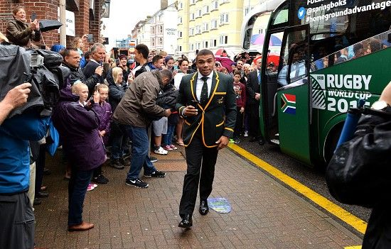 England welcomes the Boks |