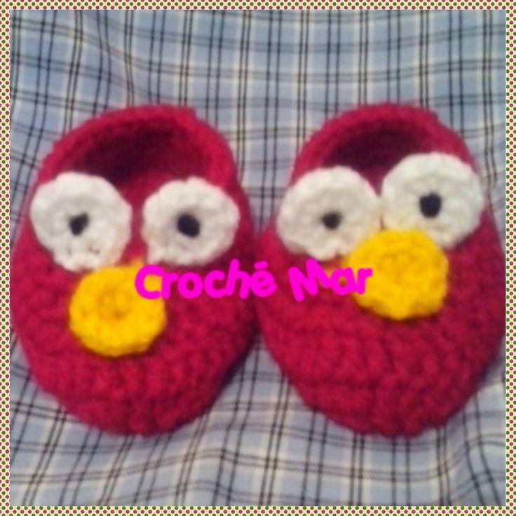 Zapatitos de Elmo por Croche Mar