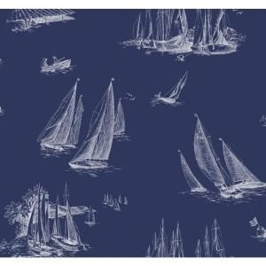 York Wallcoverings Sailboat Toile Wallpaper AC6136 at The Home Depot - Mobile