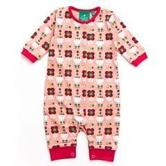 Babygrows & Sleepsuits - Little Green Radicals Babygrow -  Pink Flowers