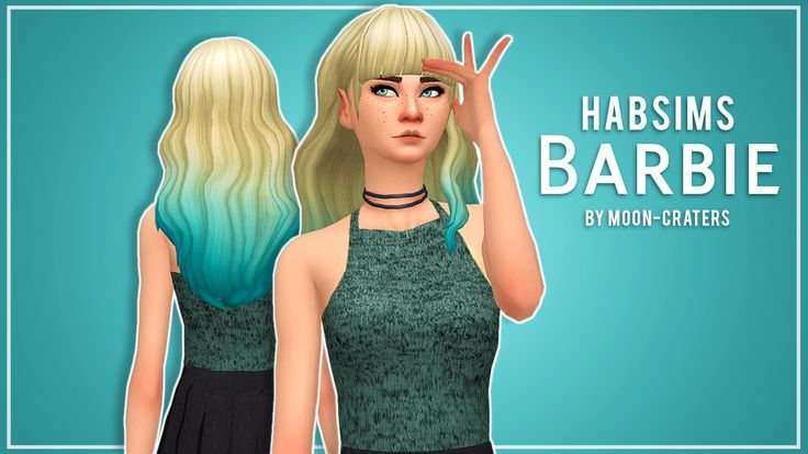 Sims 4 Custom Content Finds - moon-craters:  habsims' Barbie Hair in Rusty's...
