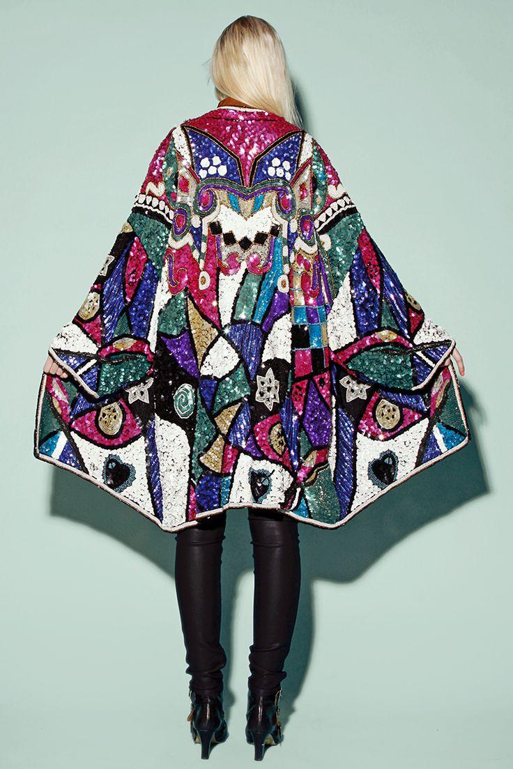 Shop Vintage 80s Sequin Kimono Coat http://thriftedandmodern.com/mardi-gras-sequin-jacket