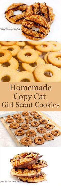 Cookies (aka homemade or copycat Girl Scout Samoas or caramel delights ...