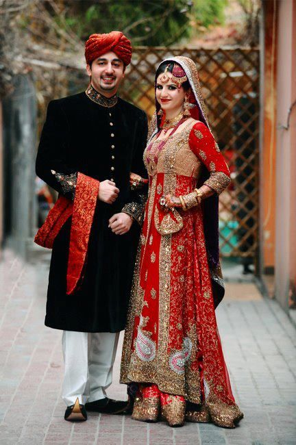 Embroidered Red Sharara Is At Lady Selection Showrooms