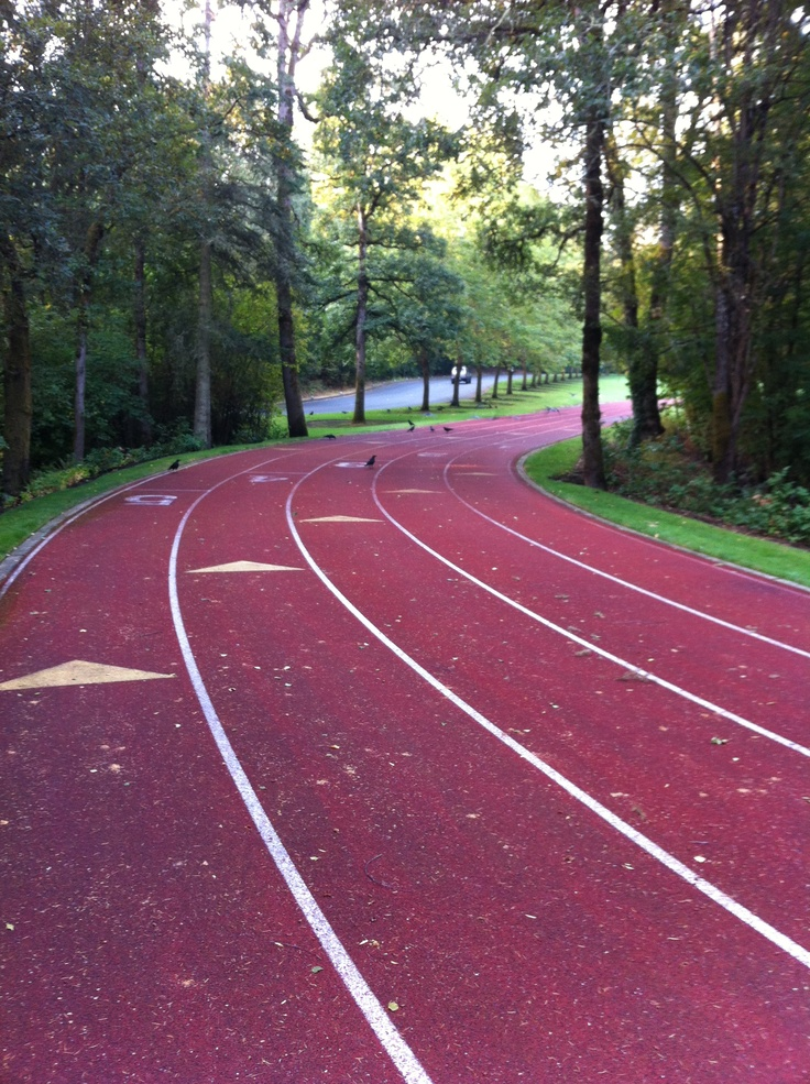 Gorgeous place for a track workout! Nike World ...