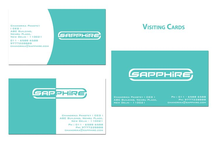 Brand Identity - Sapphire Mobiles  Visiting Cards