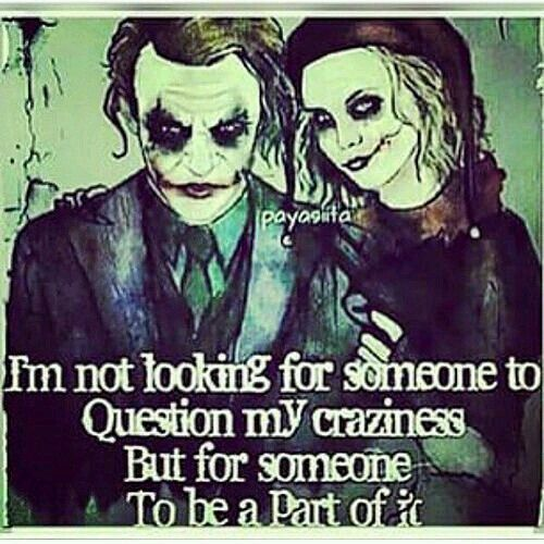 im all in. i am All Yours! i prefer this joker if We are  dressing up.