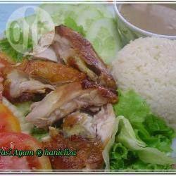 Huhn mit Reis auf malaysische Art - Ein einfaches Rezept für Huhn mit Reis, das nach dem Kochen außerdem gebraten oder gegrillt wird.@ de.allrecipes.com