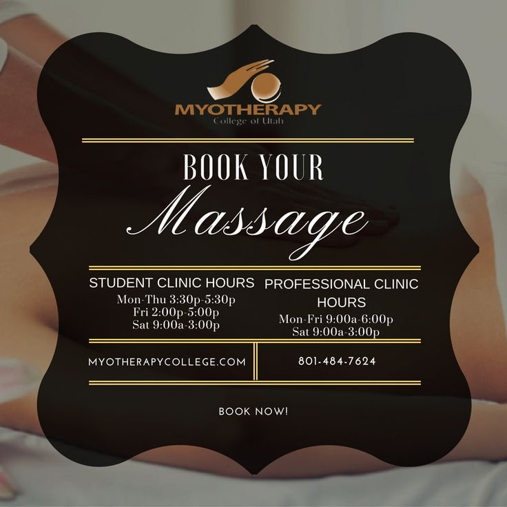 Enjoy a relaxing massage. Book yours now! Visit http://myotherapycollege.com/clinic/