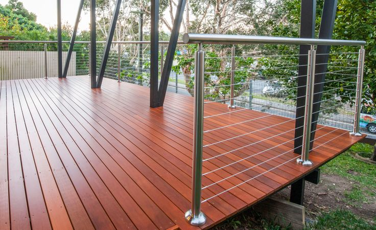 Custom satin finish stainless steel posts and handrails