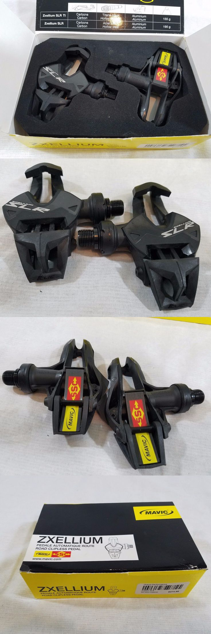Pedals 36137: Mavic Zxellium Slr Road Pedals Carbon Black 9T -> BUY IT NOW ONLY: $129.95 on eBay!