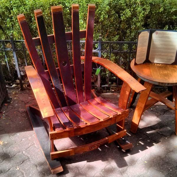 ... furniture barrel chair wine crafts chair table rocking chairs wine