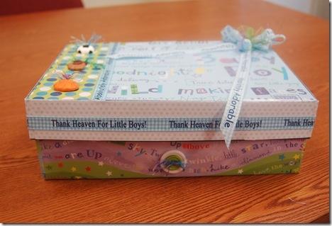 Baby Boy Memory Box - 3 Paper Dolls